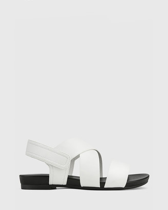 Wittner - Women's White Sandals - Leena Leather Open Toe Flat Sandals - Size One Size, 38 at The Iconic