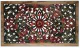 Floral Wood Relief Panel from Thailand, 'Magic Lotus'