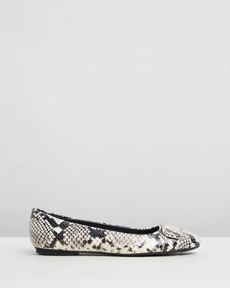 Calvin Klein Oneta Two-Tone Snake Flats