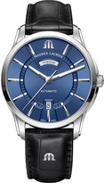 Maurice Lacroix PT6358SS0014301 Pontos automatic stainless steel and leather strap watch