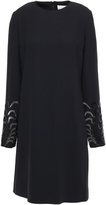 Victoria Victoria Beckham Bead-embellished Crepe Mini Dress