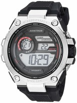 Armitron Sport Men's 40/8450RBK Red Accented Digital Chronograph Black Silicone Strap Watch