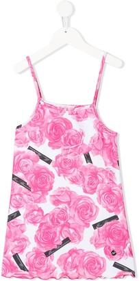 Miss Blumarine Floral-Print Beach Dress