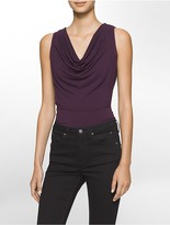 Calvin Klein Drape Neck Sleeveless Top
