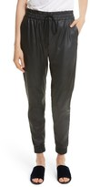 Rebecca Taylor Women's Faux Leather Track Pants