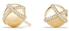 David Yurman Solari Stud Earrings with Diamonds in 18K Gold