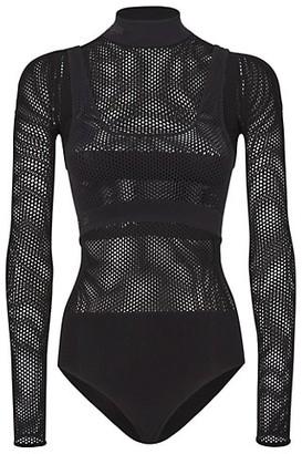 Fendi Micro Mesh Bodysuit