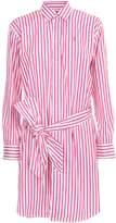 Polo Ralph Lauren Dress L/s Chemisier W/stripes And Belt