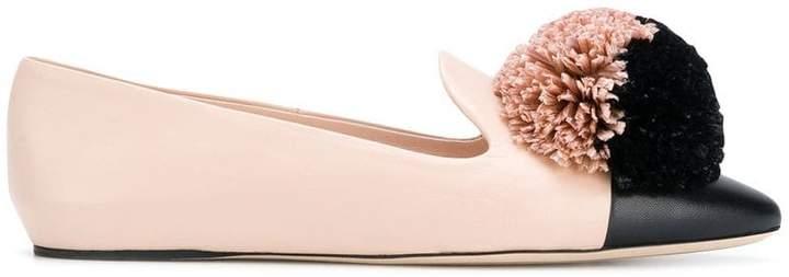 Nina Ricci pom-pom ballerina pumps