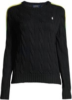 Polo Ralph Lauren Cable Knit Side Stripe Sweater