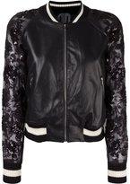 Aviu embellished sheer sleeves jacket