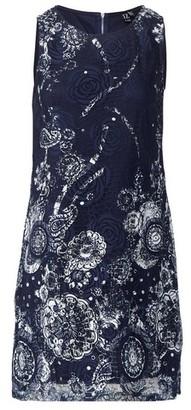 Dorothy Perkins Womens Izabel London Navy Lace Dress