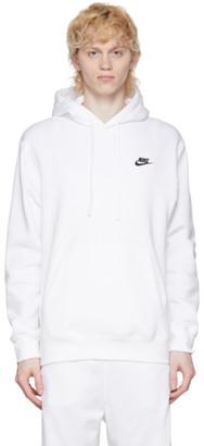 Nike White Club Pullover Hoodie
