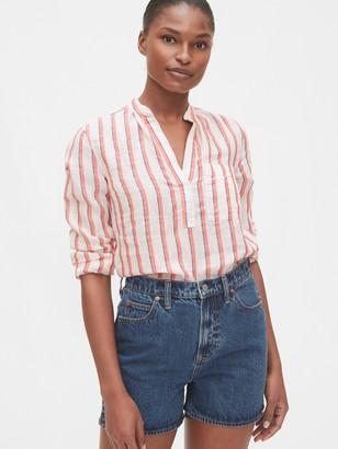 Gap Popover Pocket Shirt in Linen