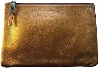 Jil Sander Metallic Leather Clutch bags