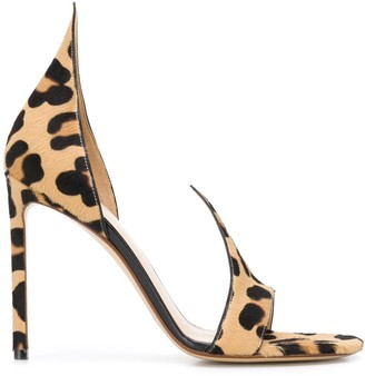 Francesco Russo Leopard Print 120mm Sandals