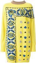 Sacai embroidered sweater dress - women - Rayon/Wool - II