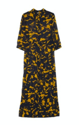 Grace & Mila - Long Printed Maxi Dress Navy - Small