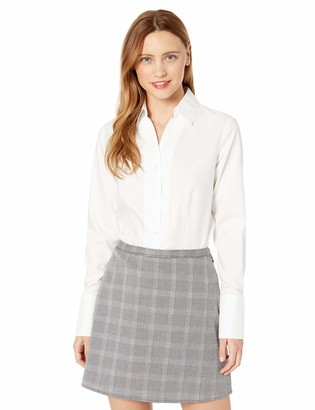 Karl Lagerfeld Paris Women's French Cuff Collared Shirt