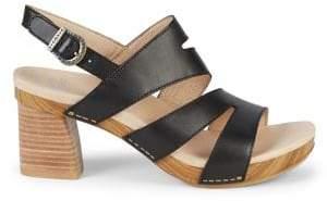Dansko Ashlee Leather Heeled Sandals
