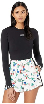 adidas Long Sleeve Logo Bodysuit (Black) Women's Jumpsuit & Rompers One Piece