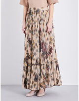 Valentino Butterfly-print tulle maxi skirt