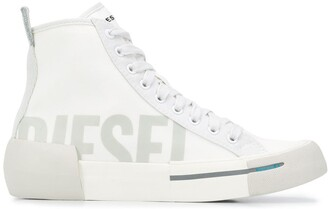 Diesel High Top Logo Print Sneakers