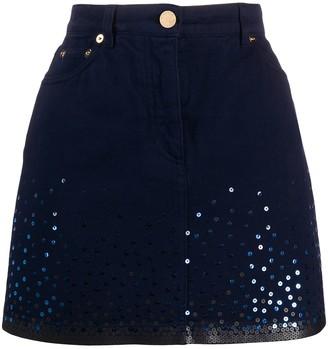 Alberta Ferretti Sequin Embroidered Mini Skirt