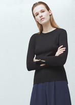Mango Outlet Ribbed Edges Sweater