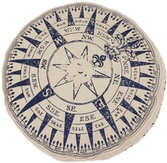 Thro Round Natural Compass Printed Kids Pillow