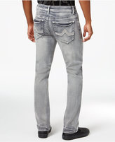 INC International Concepts Men's Slim Straight Fit Gray Wash Jeans, Only at Macy's