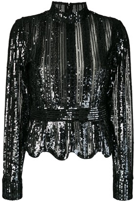 Derek Lam 10 Crosby Sequin Stripe Top