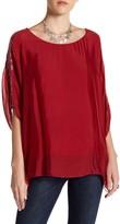 Luma Sheer Sequin Sleeve Blouse