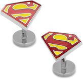 Asstd National Brand DC Comics Superman Shield Textured Cuff Links