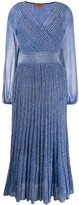 Missoni pleated wrap dress