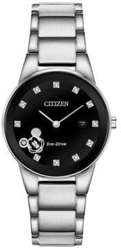 Citizen Disney by Eco-Drive Women's Mickey Mouse Diamond-Accent Bracelet Watch 29.5mm