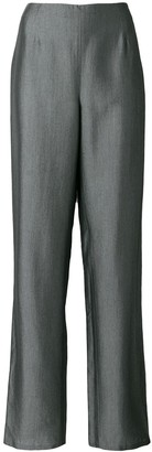Giorgio Armani Pre Owned metallic straight trousers