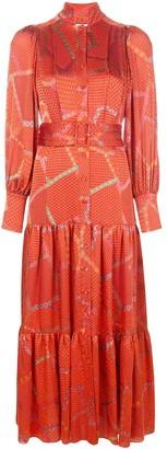 Alexis geometric Soraya midi dress