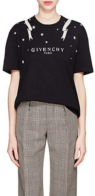 Givenchy Women's Logo Cotton T-Shirt - Black
