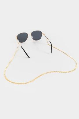 francesca's Marlie Gold Heart Convertible Eyewear & Face Mask Chain - Gold