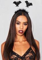 Missy Empire Hazel Black Fluffy Bat Halloween Headband