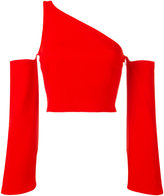Thierry Mugler single strap cut-off blouse