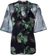 Marni floral ruffle blouse - women - Silk - 44