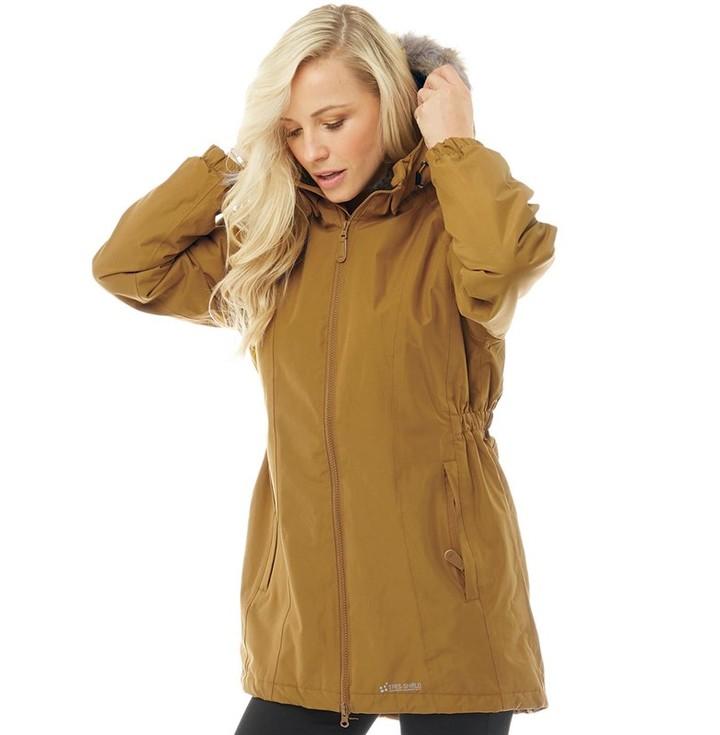 7e7b14b14 Womens Celebrity Insulated Waterproof Parka Jacket Golden Brown