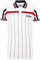 Ellesse Regular Fit Vertical Stripe Logo Polo Shirt