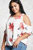 Forever 21 FOREVER 21+ Plus Size Floral Top