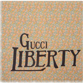 Gucci Liberty floral modal silk shawl