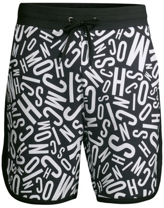Moschino Allover Logo Cotton Shorts