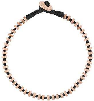Tateossian Discs Detailing Macrame Bracelet