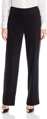 Amy Byer Women's Wrinkle Free Straight-Leg Knit Fashion Pant